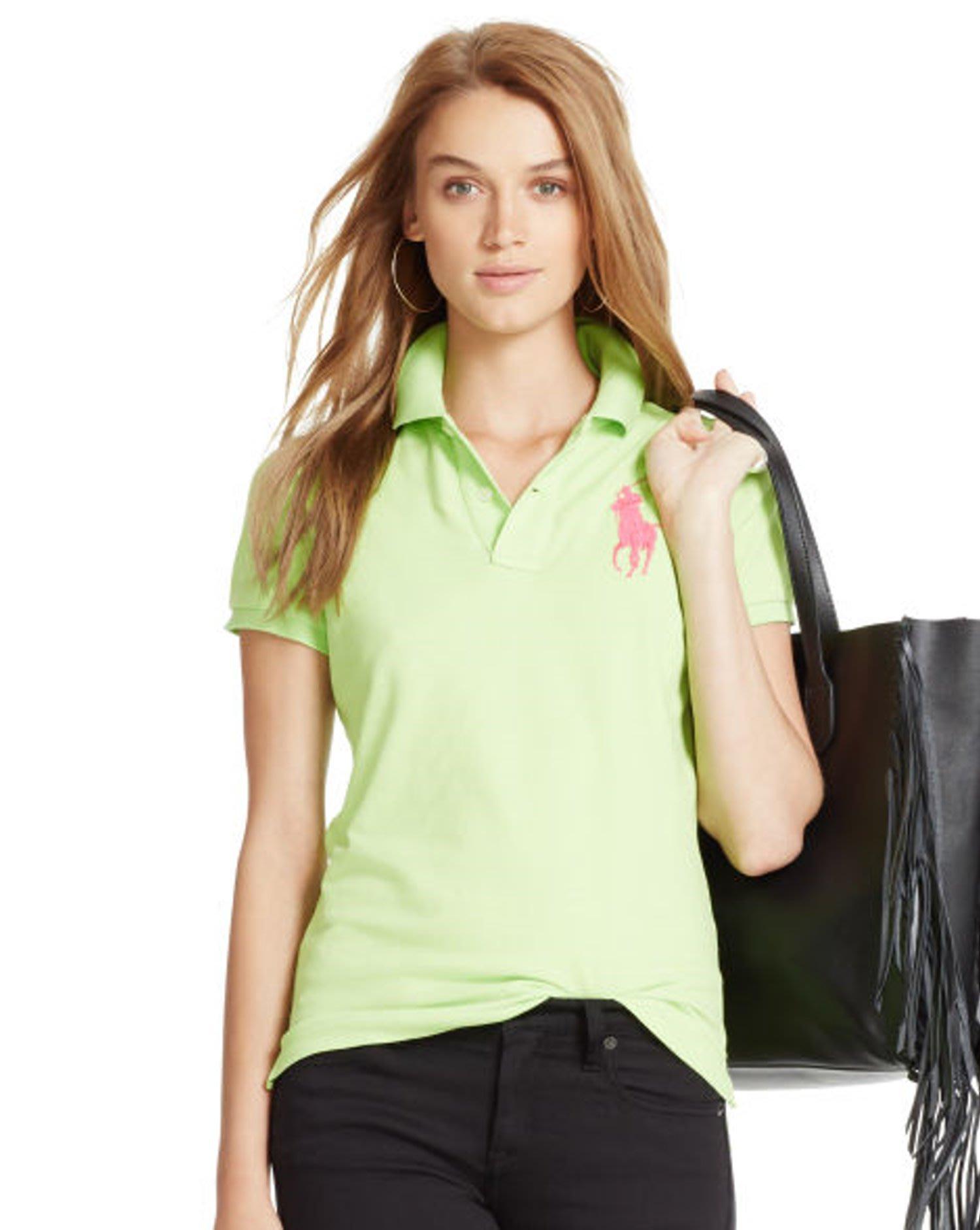 POLO Ralph Lauren 現貨 大馬 短袖 Polo衫 SKINNY FIT 綠色 XS  美國購入 保證正品