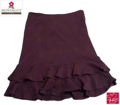 夢特嬌 裙子Montagut 及膝裙 彈性曲線款 女款-咖啡-S號【J&K嚴選】LV來自星星的你