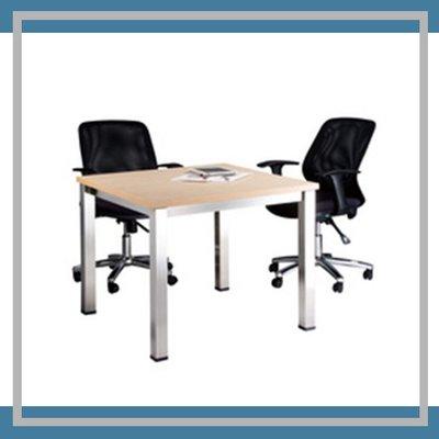 辦公室用品  SKA-3×3S 水波紋 全不鏽鋼方型骨架洽談桌 桌子 休息室 圓桌