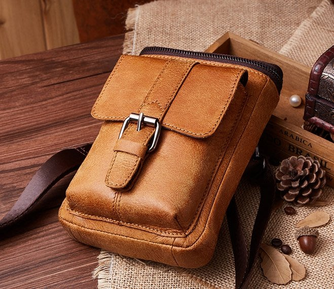 腰包 手機包 真皮腰包 側背包 斜背包 手機袋 男女通用 JY 6330【FQ包包】