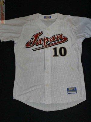 貳拾肆棒球--日本帶回珍品!ZETT日本大學棒球代表隊10號球衣/日製