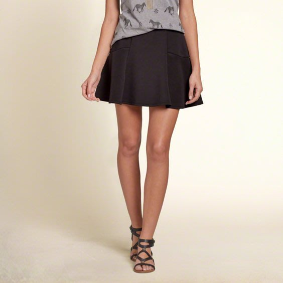 美國休閒品牌 HOLLISTER 女生款太空棉材質A字短裙 ( 新款上市.特價出售 )