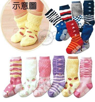媽咪家【C022】C22個性泡泡襪 中統 條紋 泡泡 星星 長襪 不會束縛小腿 防滑襪12-15~1組6雙250