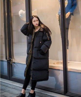 棉衣女中長款2018新款韓版棉懊bf寬鬆棉服加厚過膝學生ins面包服