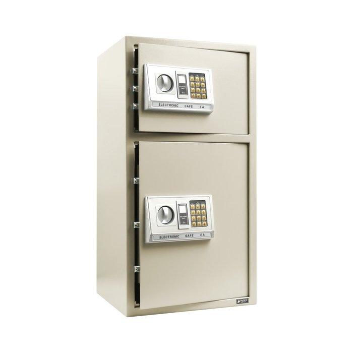 【TRENY直營】TRENY 三鋼牙 電子式雙門保險箱-特大 高80公分 金庫 辦公室 營業 80EA-2
