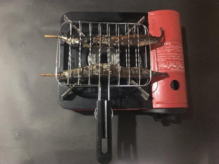 台灣製電木柄不沾雙合烤肉網中(方形) 烤肉架 烤魚網 海鮮烤網 烤蝦網 烤肉用品批發