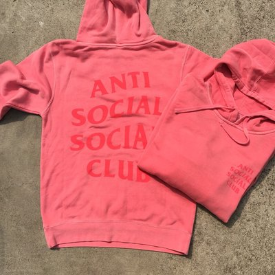 ☆LimeLight☆ Anti Social Social Club Ghosted Pink Tonal 粉紅