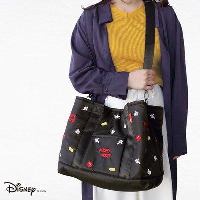 日本 Rootote X Disney Mickey Mouse 米奇 黑色帆布 斜咩袋 ( $280 包順豐 )