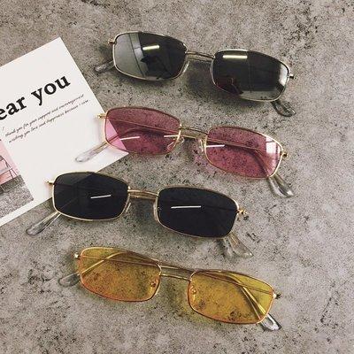 網紅同款方形太陽眼鏡原宿復古小臉小框眼鏡女個性潮街拍墨鏡韓版
