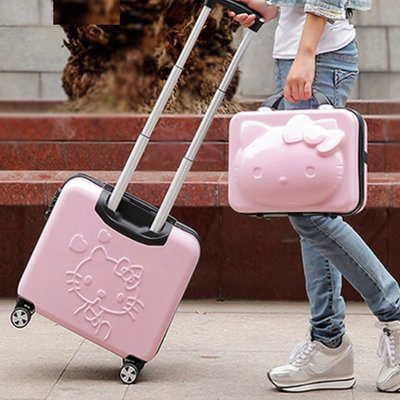 Hello kitty  #G- 366  18吋行李箱+14吋手提箱
