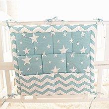 寶媽咪~嬰兒床邊純棉置物掛套/床邊掛袋/嬰兒床收納袋