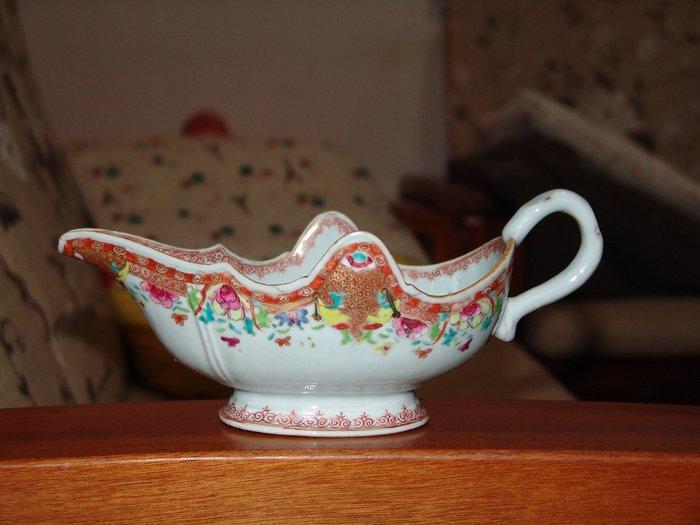 乾隆 外銷瓷 粉彩 補丁 大杯