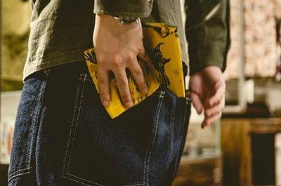 """Retrodandy - """"Devil bandanas"""" 惡魔方巾 - 米色 Beige / 黃色 Yellow"""