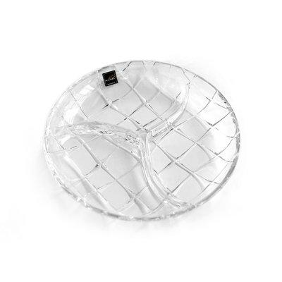 Luxury Life【正品】Rogaska Raster 3 S/1 祥輝獻瑞系列 手工水晶 三格 點心盤