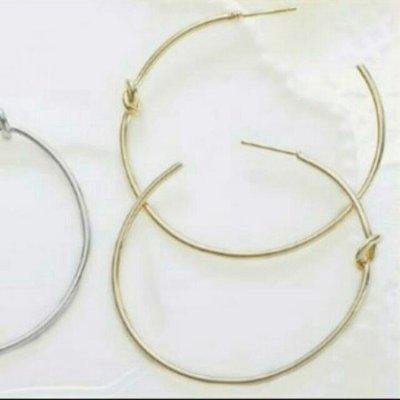 大c圈打結C圈耳環金色