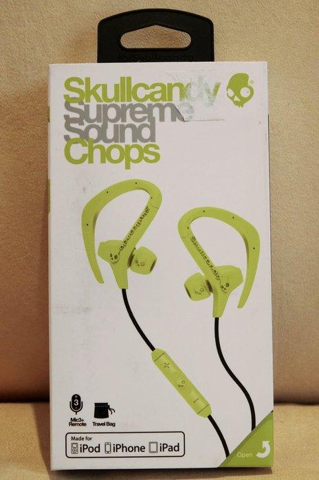 大降價!全新Skullcandy Supreme Sound Chops 螢光粉綠色掛耳運動有麥克風耳塞式耳機!無底價!