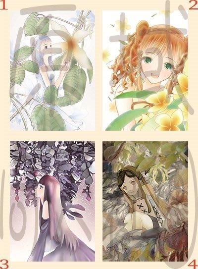 【原創明信片】植物&少女(套組)