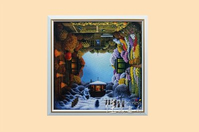 ◎『佳家畫廊』→白色款-雷諾瓦 四季迷情924片拼圖-訂製平面框◎訂做拼圖框