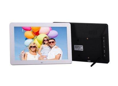 全新方案 增強版 12吋 寬屏 超薄高分辨率12寸 數位相框 電子相框 全格式支援 LED高清屏日曆鬧鐘遙控器