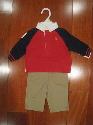 Ralph Lauren 男寶寶長袖套裝  尺寸 3個月