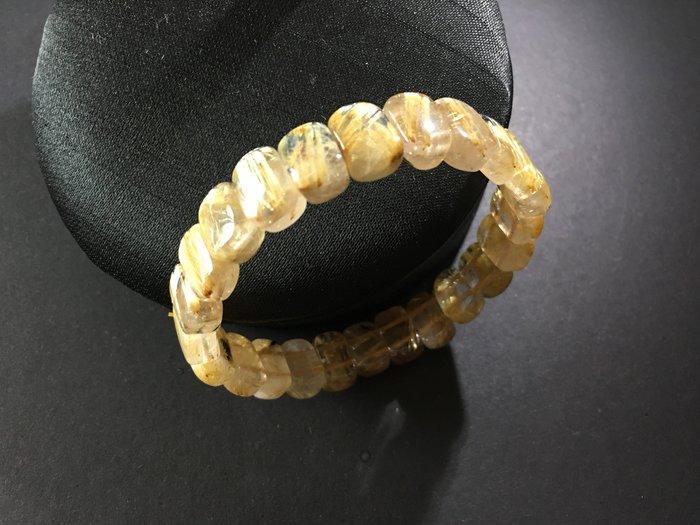 *藏雅軒*能量珠寶水晶之王-髮絲鈦晶手排-24g-特價商品