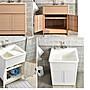 【yapin小舖】塑鋼洗衣櫃.洗衣槽.洗菜槽.洗雜物槽.洗衣池.門板設計.翻門設計.堅固耐用