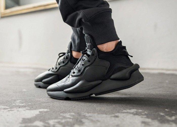 【Cheers】 Adidas Y-3 KAIWA 時尚黑 皮革 EF2561 黑魂 男 女鞋 限量 山本耀司