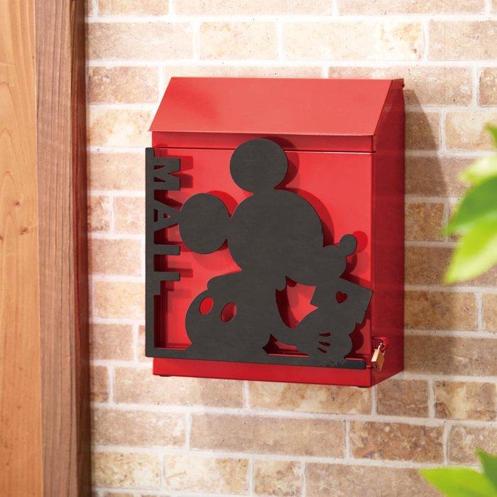 迪士尼Disney《預購》剪影造型信箱 (附贈鎖頭)~米奇 唐老鴨 維尼~日本正品~共3款~心心小舖