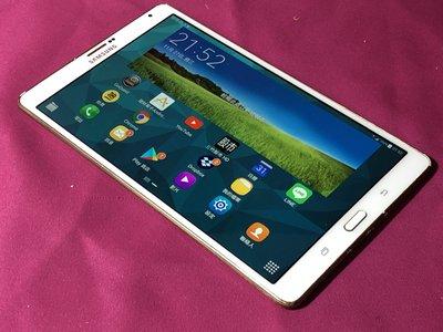 ((1個月保固))中古良品 白色SAMSUNG大螢幕8吋電話平板SM-705Y外觀漂亮 歡迎面交當場驗收