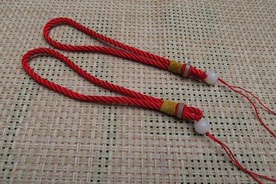 518中國結綁繩.扣頭專賣--中國結綁繩--N22   翡翠玉墜 掛件 手把件粗綁繩  (紅色)