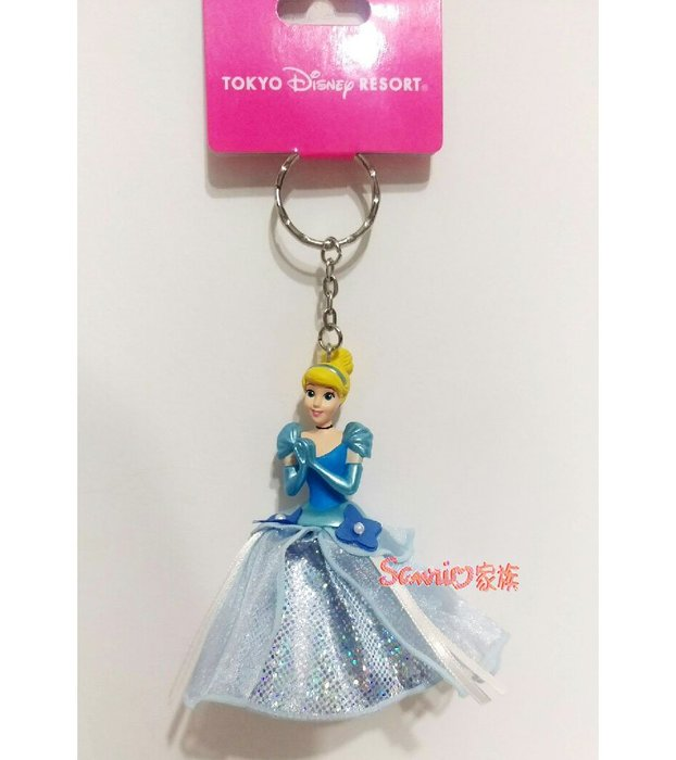 《東京家族》日本東京迪士尼Disney 限定 灰姑娘 禮服版公仔吊飾 鑰匙圈 鑰匙扣