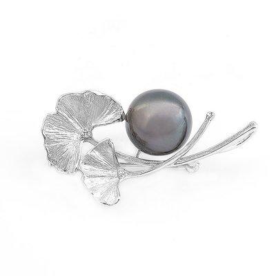 【JHT金宏總珠寶/GIA鑽石專賣】13MM天然珍珠胸針/材質:18K(JB26-A35)