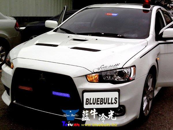 【藍牛冷光】爆亮 前檔後檔 吸盤式 LED爆閃燈 警義消 工程車 前導車 FBI款 紅藍 警示燈