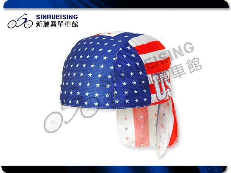【阿伯的店】PACE US 80s Retro 頭巾-紅藍白色 #KMS1022