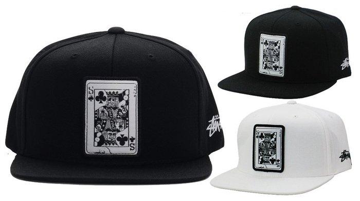 【超搶手】全新正品 2015 冬季 STUSSY FULL HOUSE SNAPBACK CAP 黑桃A 棒球帽 黑 白