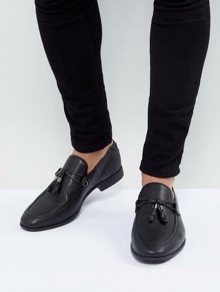 ◎美國代買◎ASOS雙皮線流蘇與車線裝飾鞋面經典百搭款流蘇細繩皮鞋~歐美街風~大尺碼