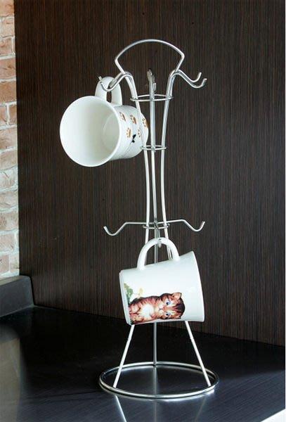 ☆成志金屬☆ s-76 不鏽鋼9勾咖啡杯、馬克杯、餐具架、湯匙架多用途設計好用的收納架