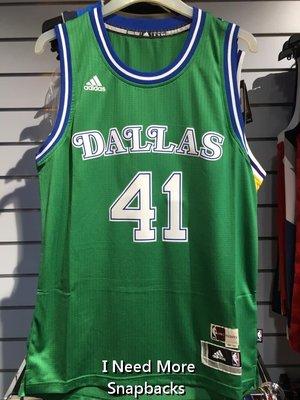 [INMS] Adidas NBA 達拉斯小牛 Dirk Nowitzk 復古綠 熱轉印 球衣 AS8126 高雄市