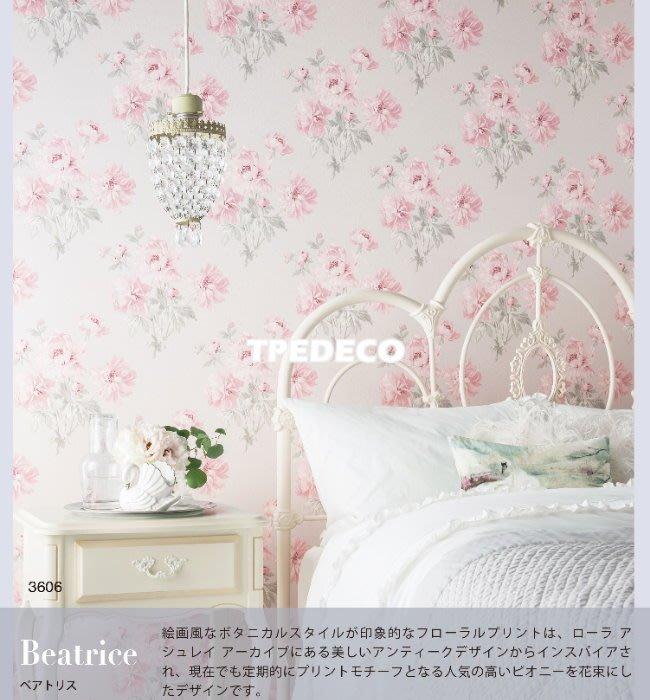 【大台北裝潢】日本進口壁紙BA* 英國Laura Ashley聯名款 英式水彩花朵 | 3606 |