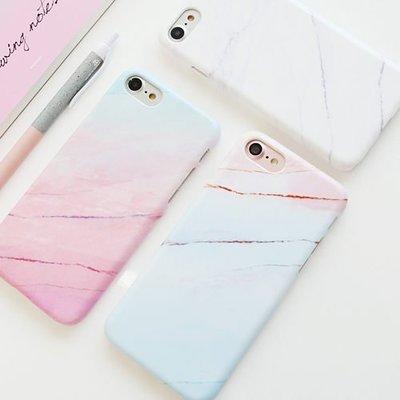 韓國 漸層大理石 硬殼 手機殼│iPhone 5S SE 6 6S 7 8 Plus X XS MAX XR│z7986