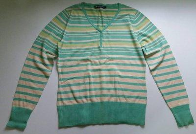HANG TEN薄荷綠色黃色米白色橫條紋衫純棉長袖針織衫 Gymboree H&M PINS AND NEEDLES參考
