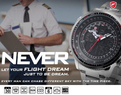 高級五種色款進口特級帥航空軍用機長鋼帶4.6cm手錶英國鯊非精工lv dw華航長榮shark