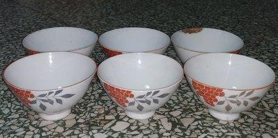 早期 日本 Maruka 石垣島 硬質陶器 飯碗。。6個一起賣
