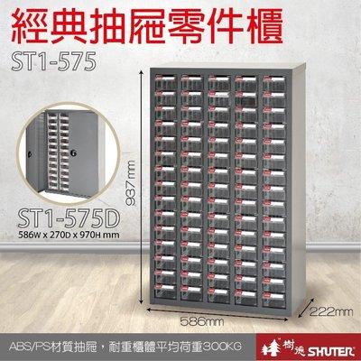 樹德 經典抽屜零件櫃 ST1-575 鍍鋅鋼鈑 75格抽屜 可耐重303kg 工具櫃 工具箱 收納櫃 零件盒