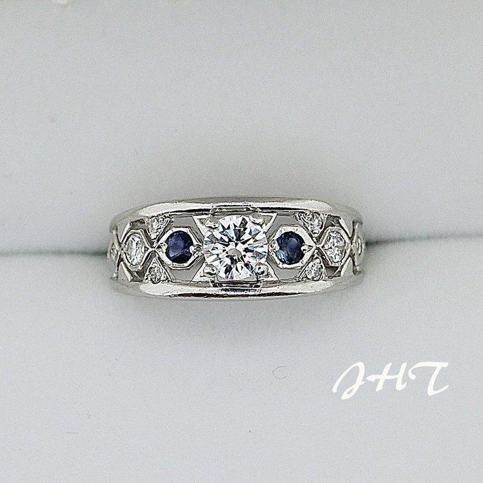 【JHT金宏總珠寶/GIA鑽石專賣】天然藍寶鑽石戒指 0.35克拉 ( JB25-A042)