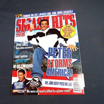 【懶得出門二手書】英文雜誌《SMASH HITS》PETER STORMS AMERICA│(21F35)
