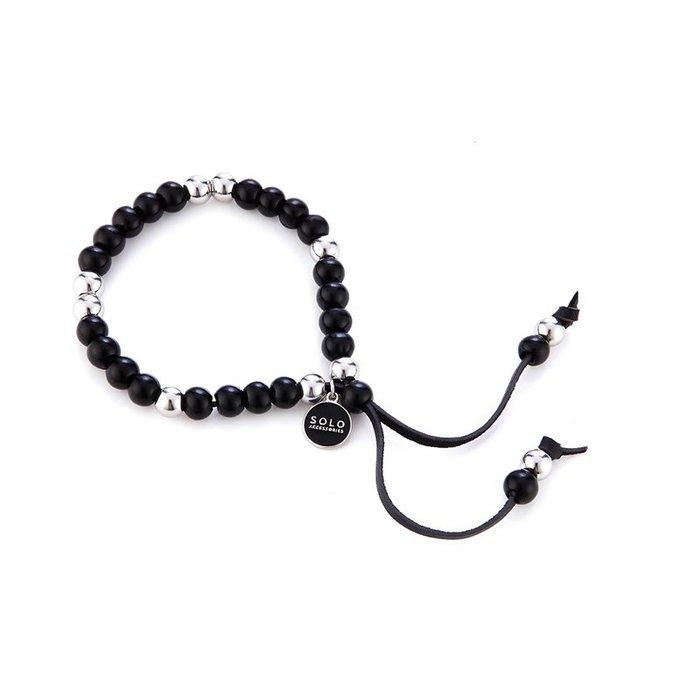 藤原本鋪 SOLO Lazurite Beads Bracelet 手工琉璃串珠手環 黑色
