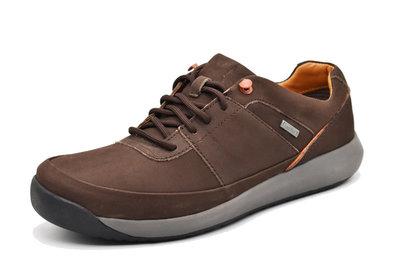 clarks克拉克男鞋GORE-TEX商務休閒防水皮鞋低幫系帶健步男鞋棕色磨砂39-44