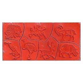 陽光一品~~ 特價海綿印章組--草原動物系列-1#A-35# ~氂牛.馬.羚羊.猴子.鴕鳥.梅花鹿.山豬~台灣製絕版品