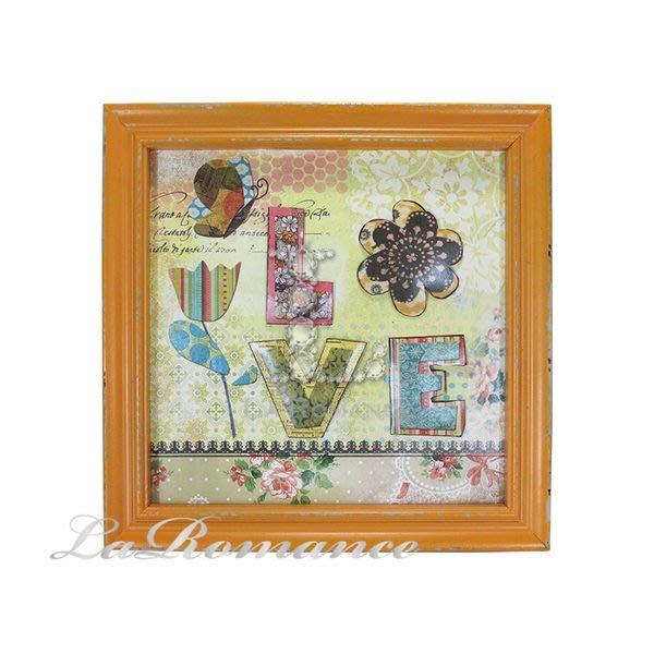 【芮洛蔓 La Romance】花朵點點系列 - LOVE鐵製木板畫 / 掛飾 / 畫飾